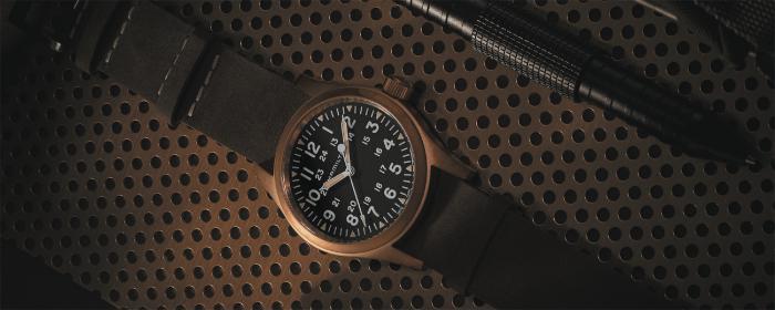 汉米尔顿推出卡其野战系列手动机械腕表青铜版