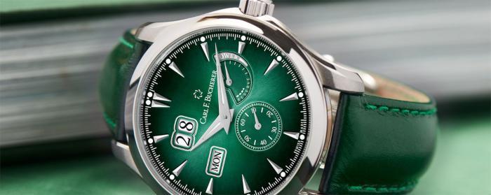 迷人色彩与布局:Carl F. Bucherer宝齐莱马利龙外缘动力储存腕表