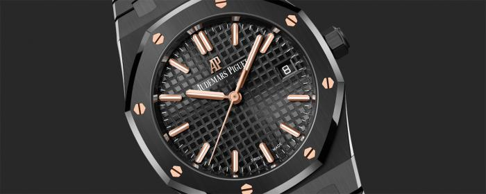 爱彼皇家橡树推出34毫米黑色陶瓷女士腕表