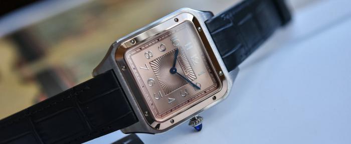 卡地亚Santos-Dumont XL间金款限量版腕表——这个XL一点都不XL