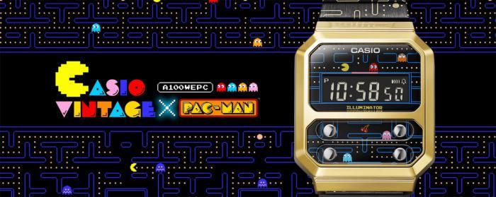 Casio卡西欧宣布与世界知名的经典游戏PAC-MAN发行联名表款