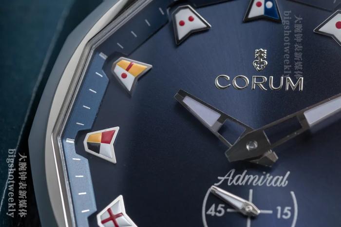 表盘上的蔚蓝海岸,Corum昆仑表海军上将42自动腕表之美 丨 大腕钟表新媒体