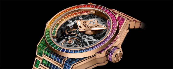 HUBLOT宇舶表推出Big Bang Integral一体式 陀飞轮高级珠宝腕表