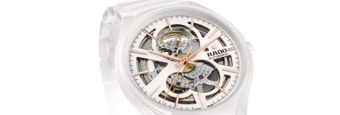"""时光流转,感知芯动----Rado瑞士雷达表推出全新True真系列""""芯动白""""镂空机械腕表"""