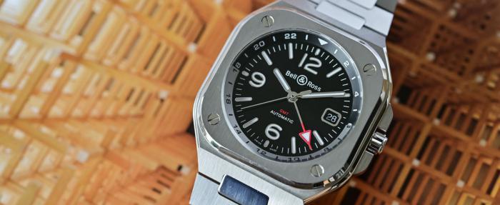柏莱士BR 05 GMT腕表——方圆之中的双城纽带
