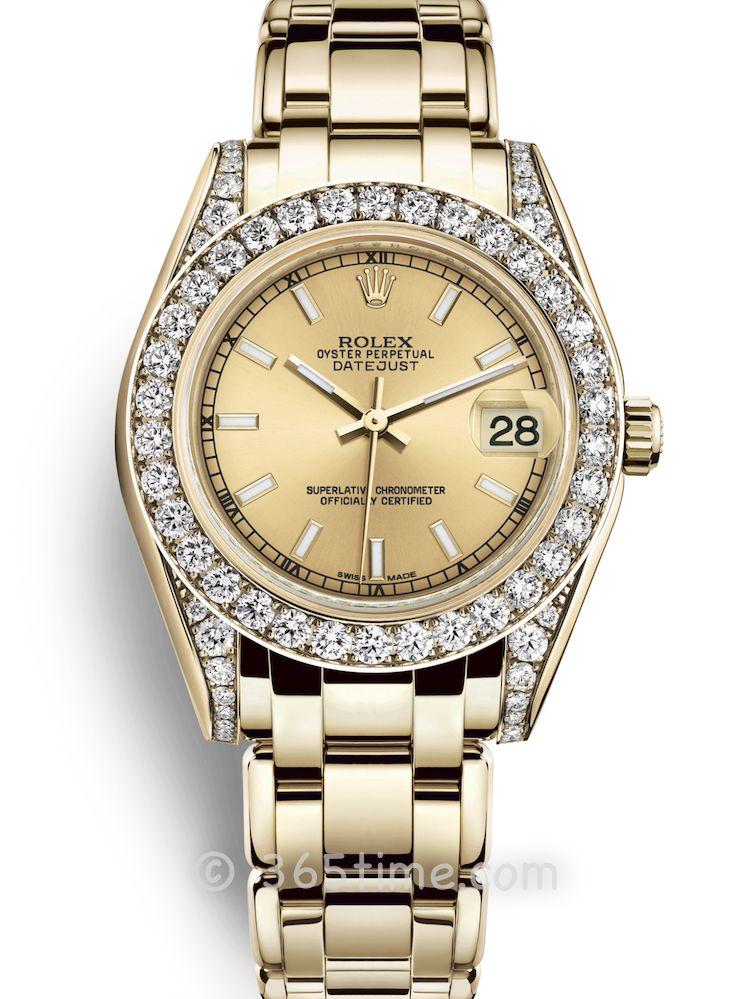 Rolex劳力士蚝式女装系列日志珍珠淑女型34腕表81158-0086