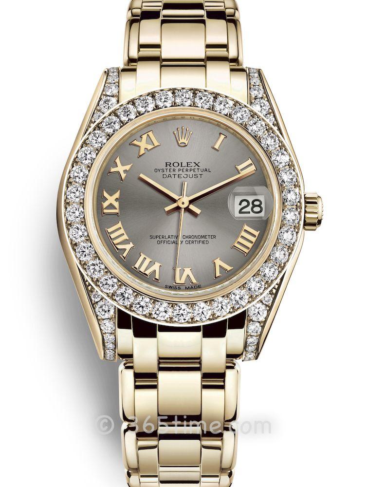Rolex劳力士蚝式女装系列日志珍珠淑女型34腕表81158-0122