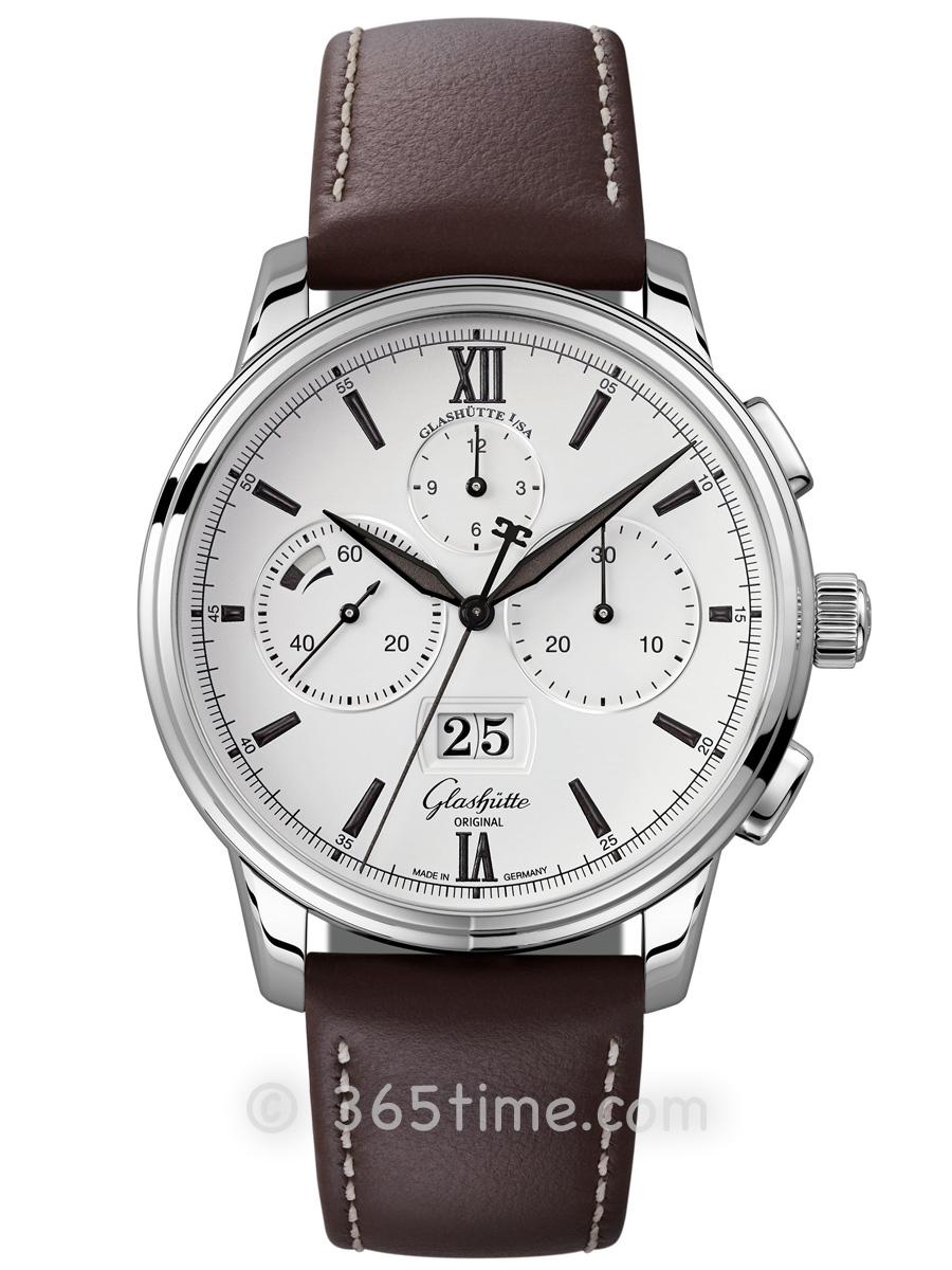 格拉苏蒂原创Senator Chronograph Panoramadatum 议员大日历计时腕表1-37-01-05-02-35