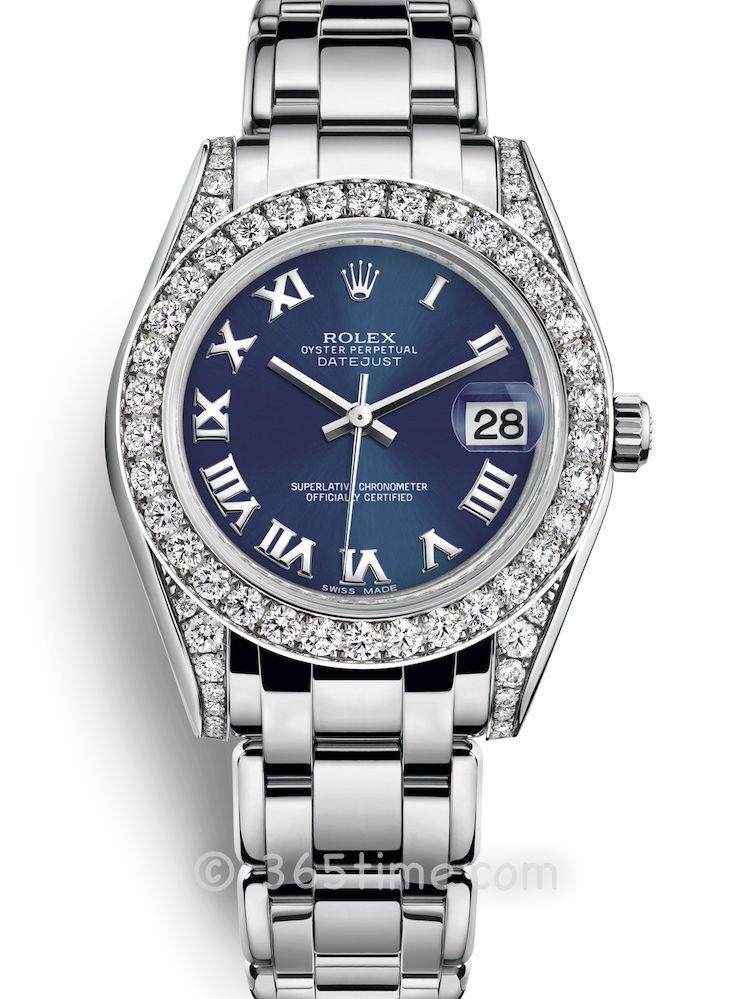 Rolex劳力士蚝式女装系列日志珍珠淑女型34腕表81159-0055