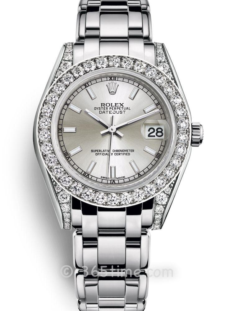 Rolex劳力士蚝式女装系列日志珍珠淑女型34腕表81159-0051