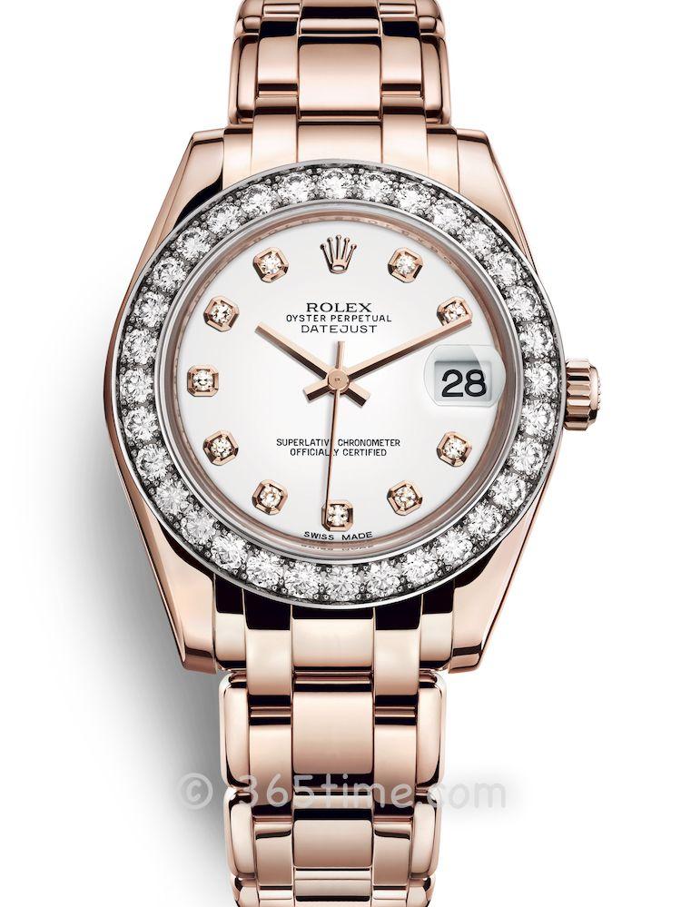 Rolex劳力士蚝式女装系列日志珍珠淑女型34腕表81285-0033