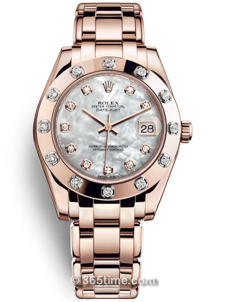 Rolex劳力士蚝式女装系列日志珍珠淑女型34腕表81315-0014