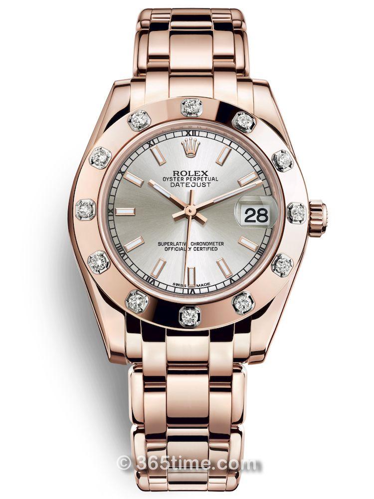 Rolex劳力士蚝式女装系列日志珍珠淑女型34腕表81315-0023