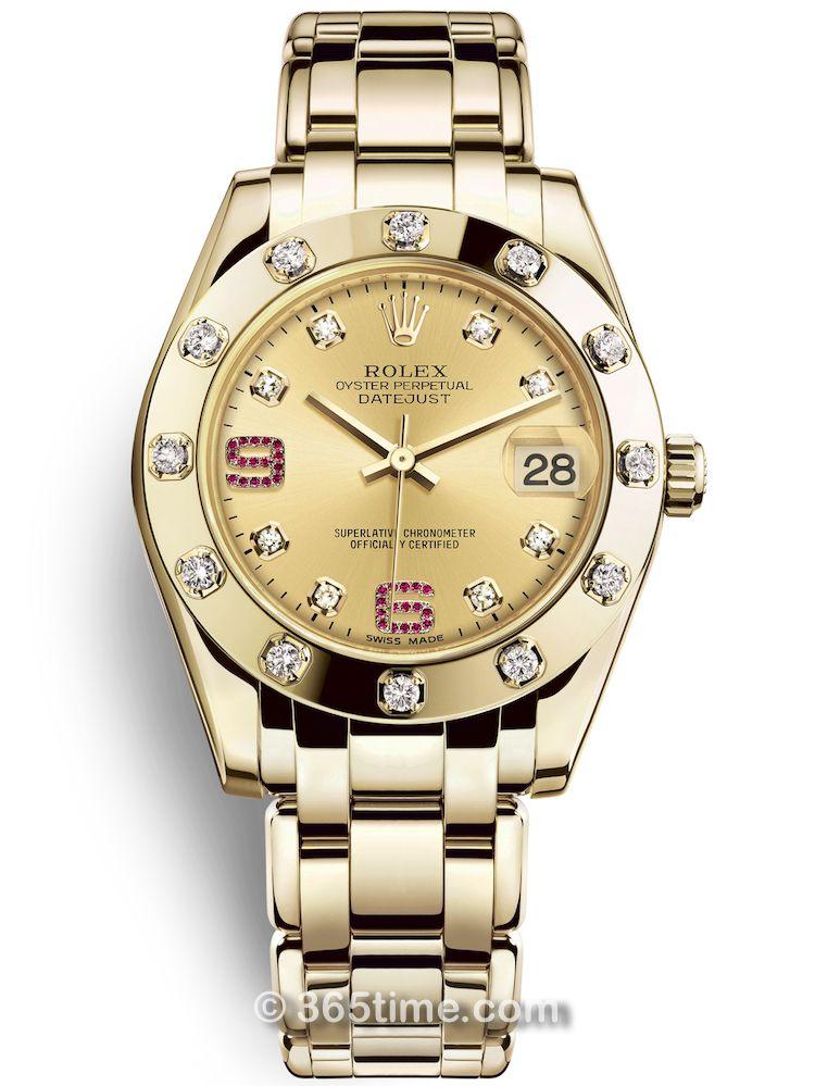 Rolex劳力士蚝式女装系列日志珍珠淑女型34腕表81318-0041