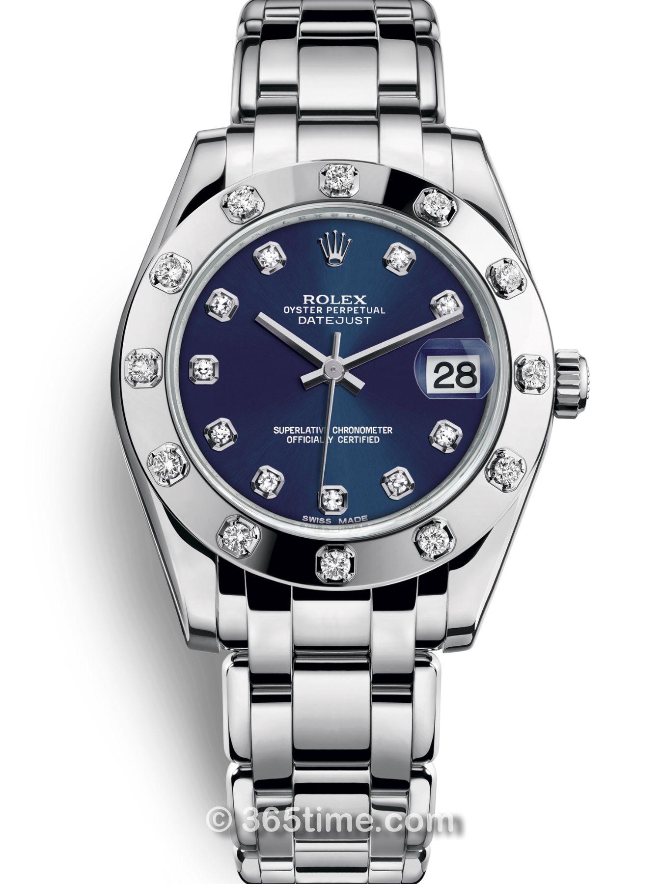 Rolex劳力士蚝式女装系列日志珍珠淑女型34腕表81319-0015