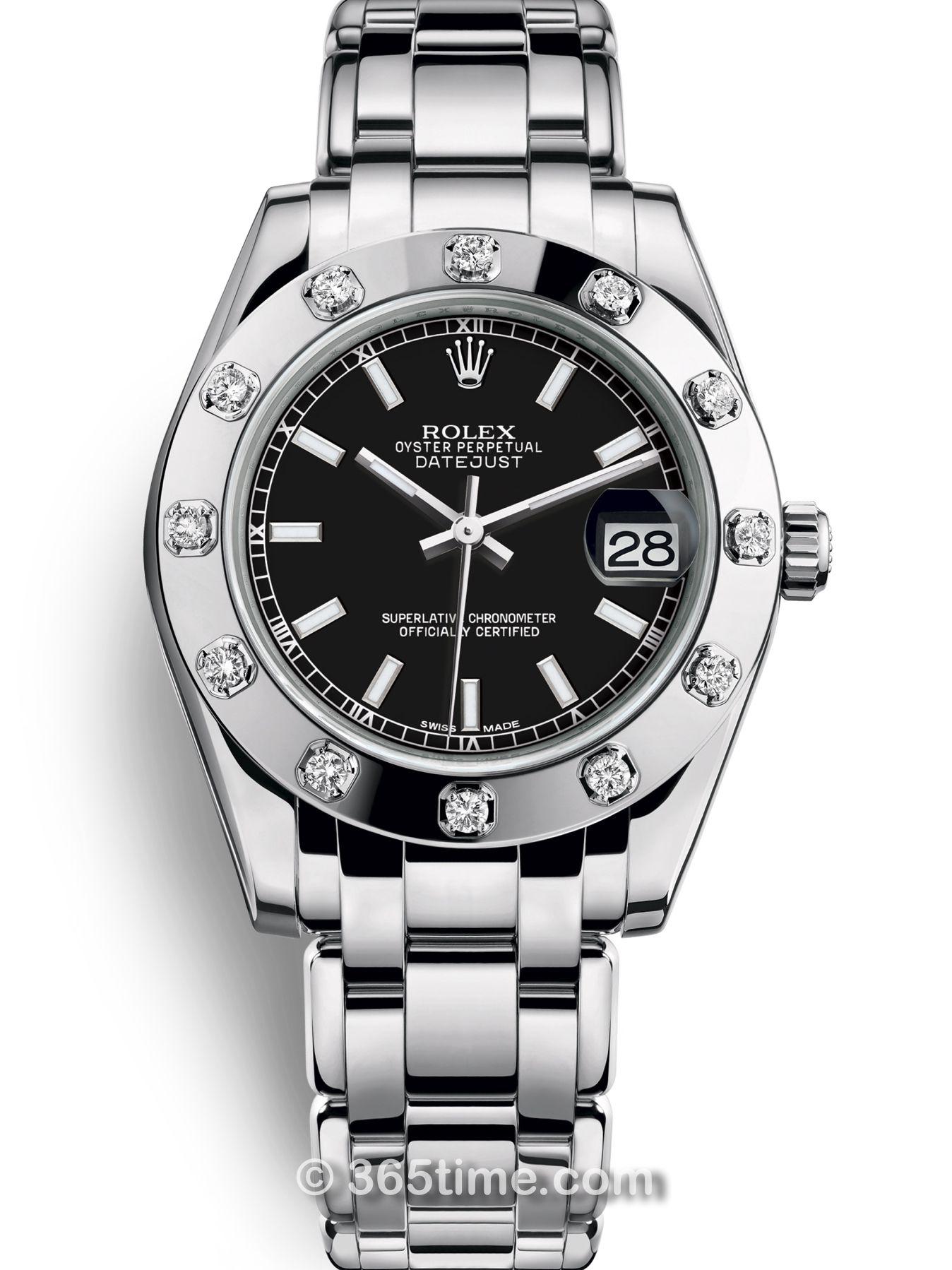 Rolex劳力士蚝式女装系列日志珍珠淑女型34陨石表盘腕表81319-0027