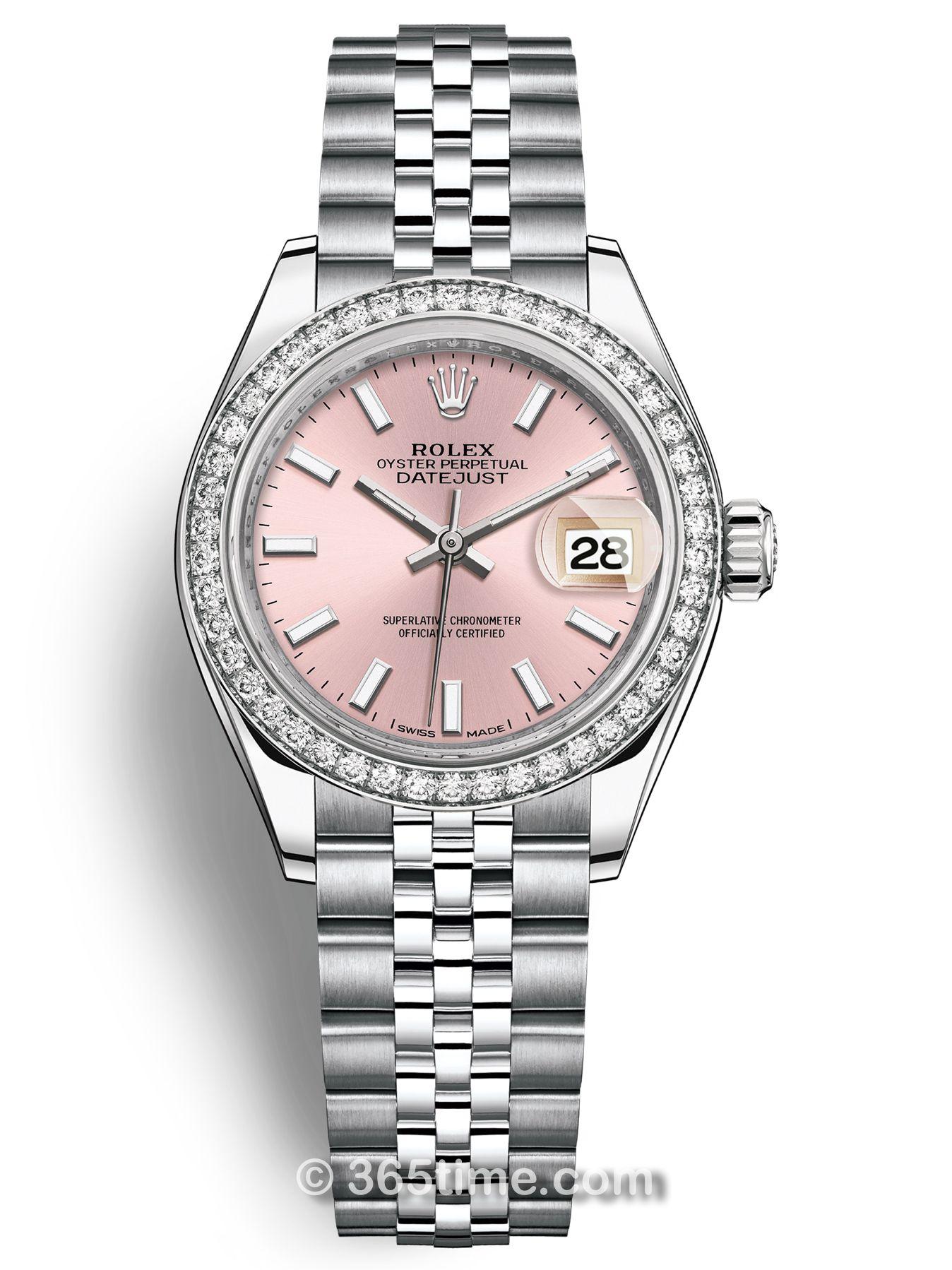 Rolex劳力士女装日志型28白金镶钻手表279384rbr-0001