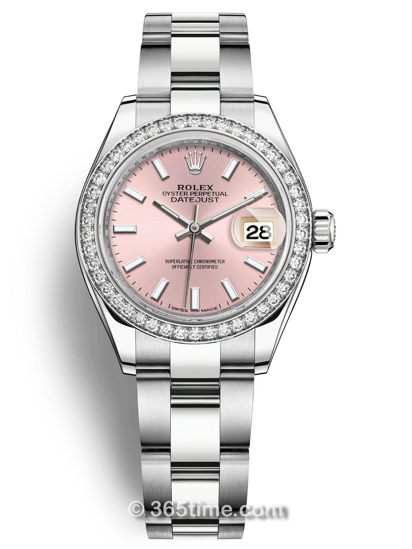 Rolex劳力士女装日志型28白金镶钻手表279384rbr-0002