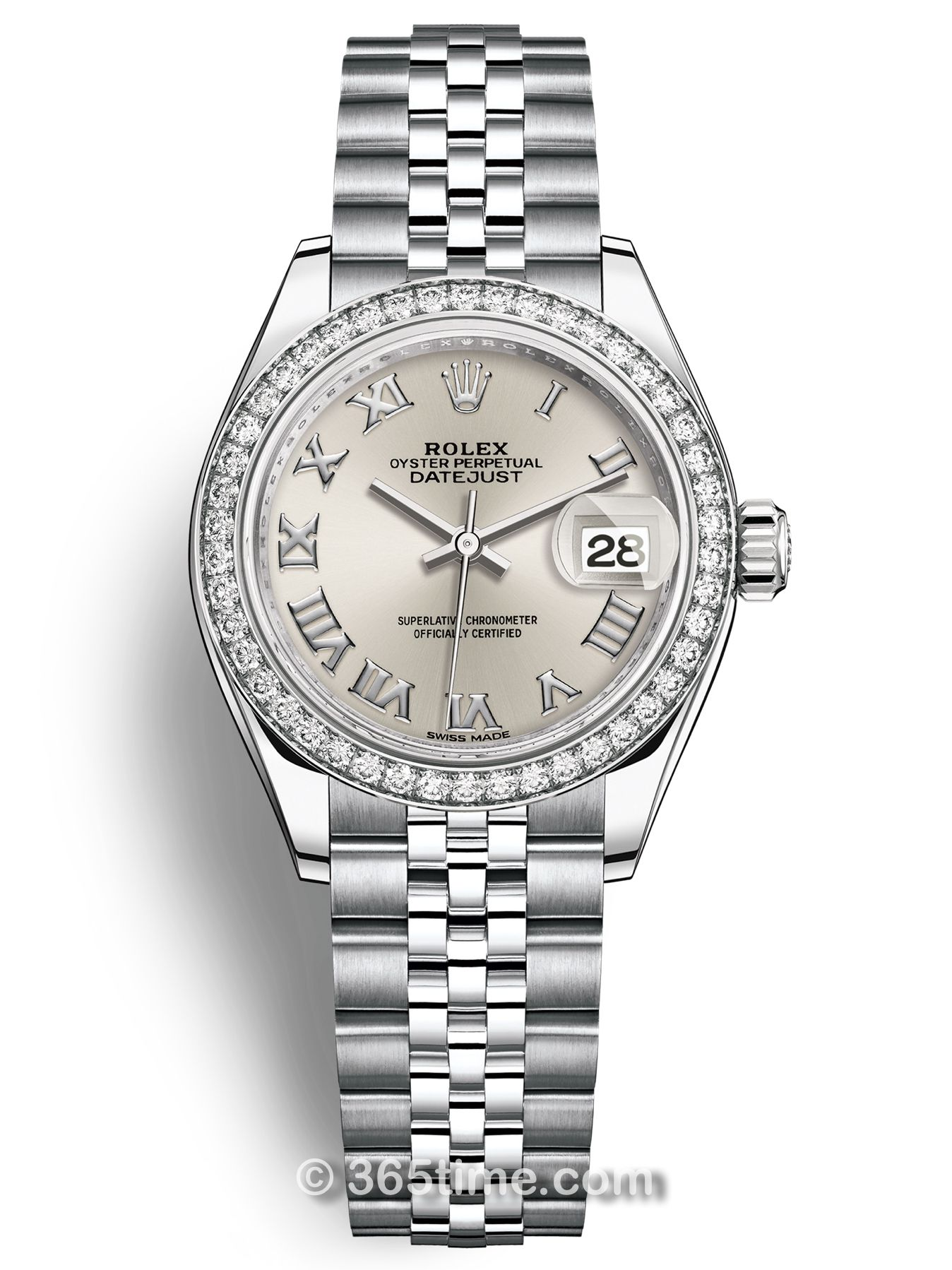 Rolex劳力士女装日志型28白金镶钻手表279384rbr-0009