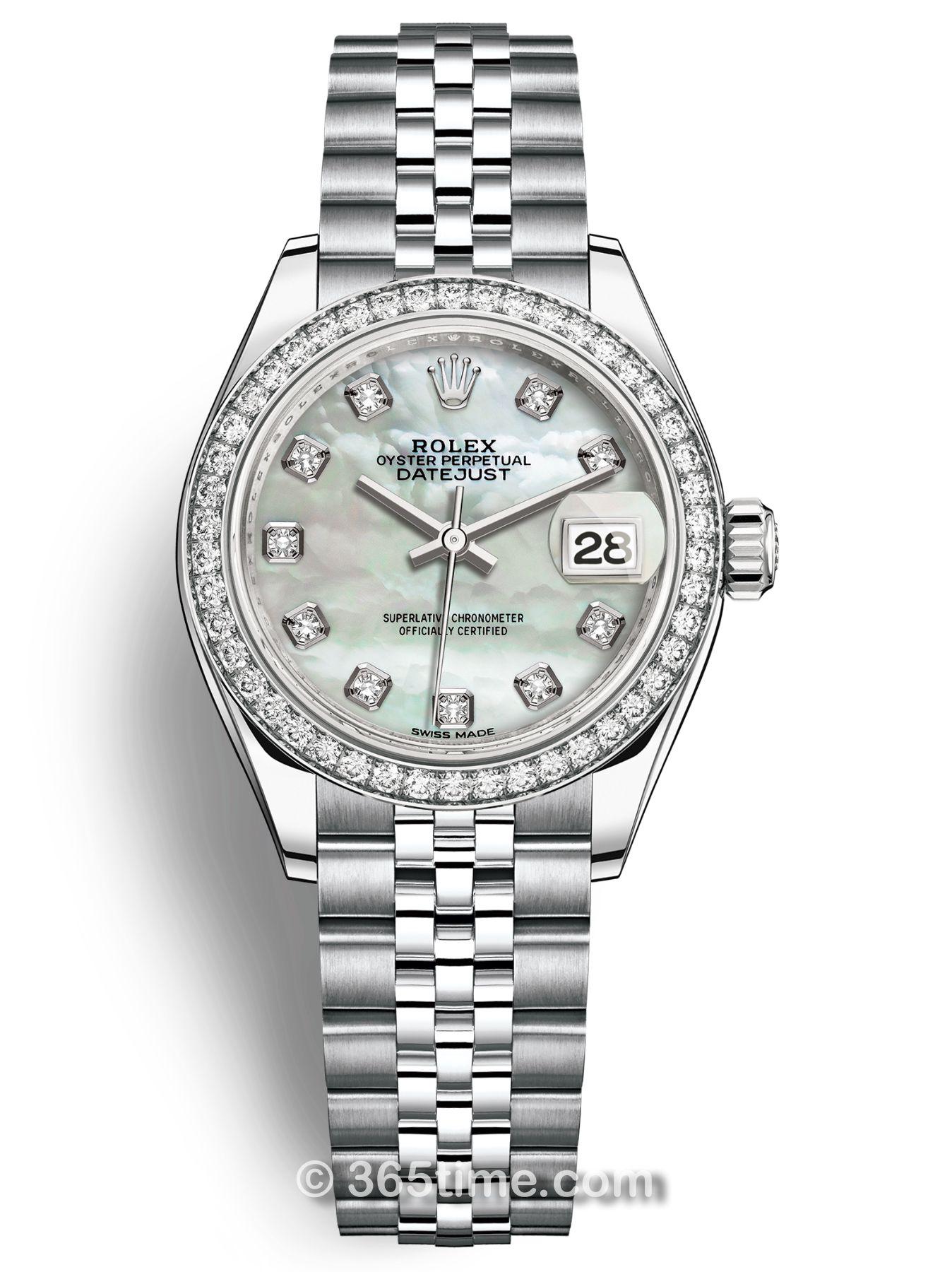 Rolex劳力士女装日志型28白金镶钻手表279384rbr-0011