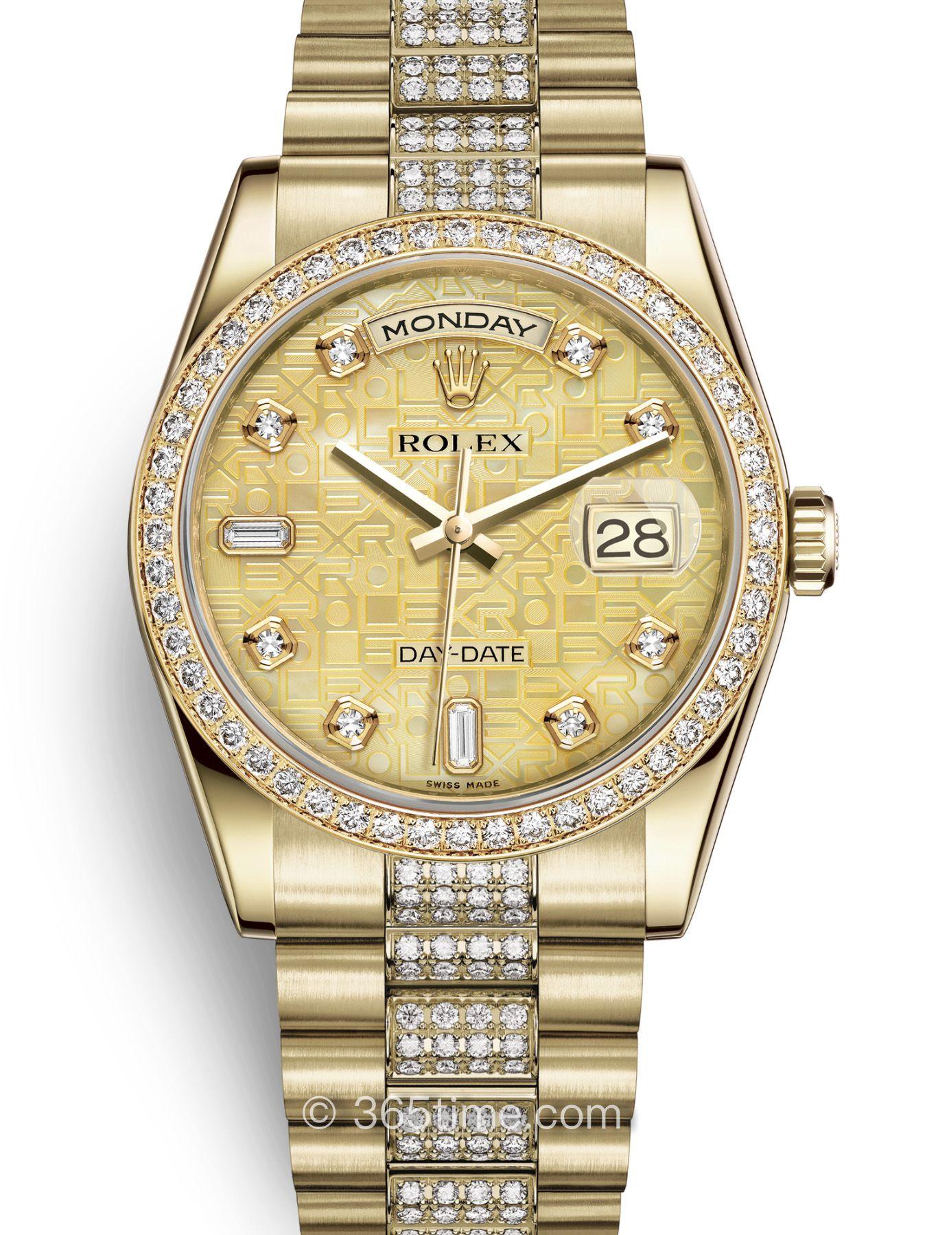 Rolex劳力士星期日历型36腕表118348-0090