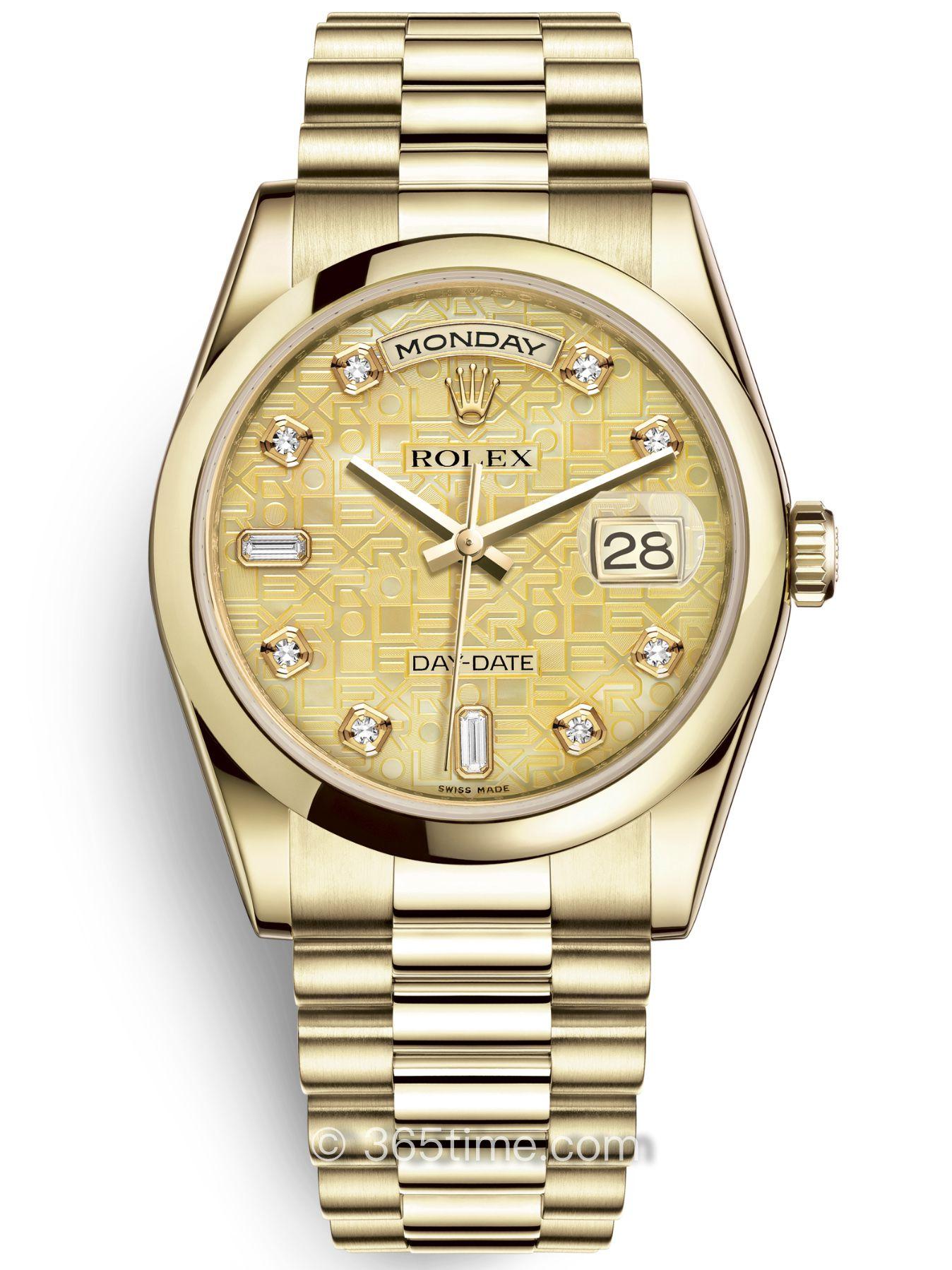 Rolex劳力士星期日历型36腕表118208-0109