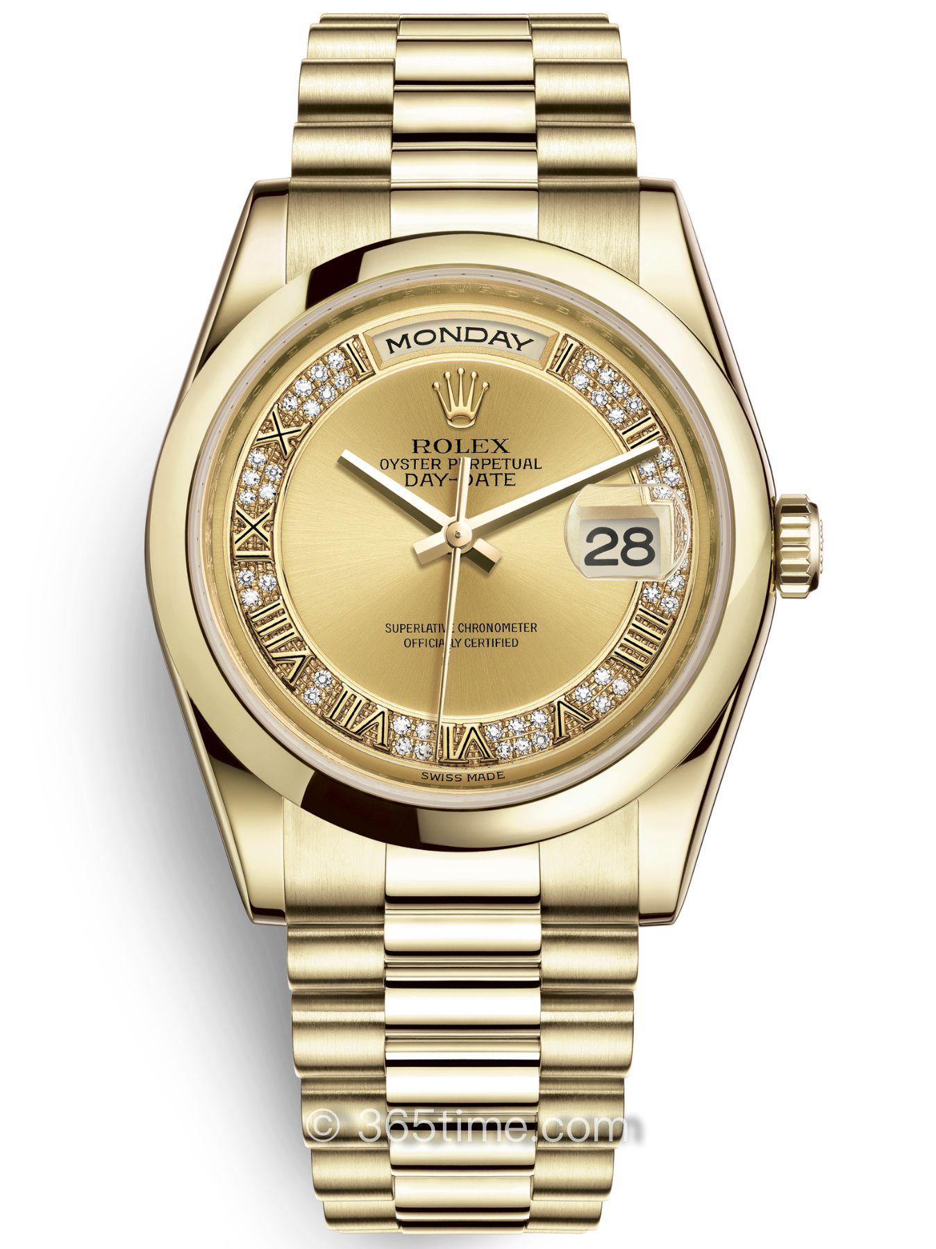 Rolex劳力士星期日历型36腕表118208-0326