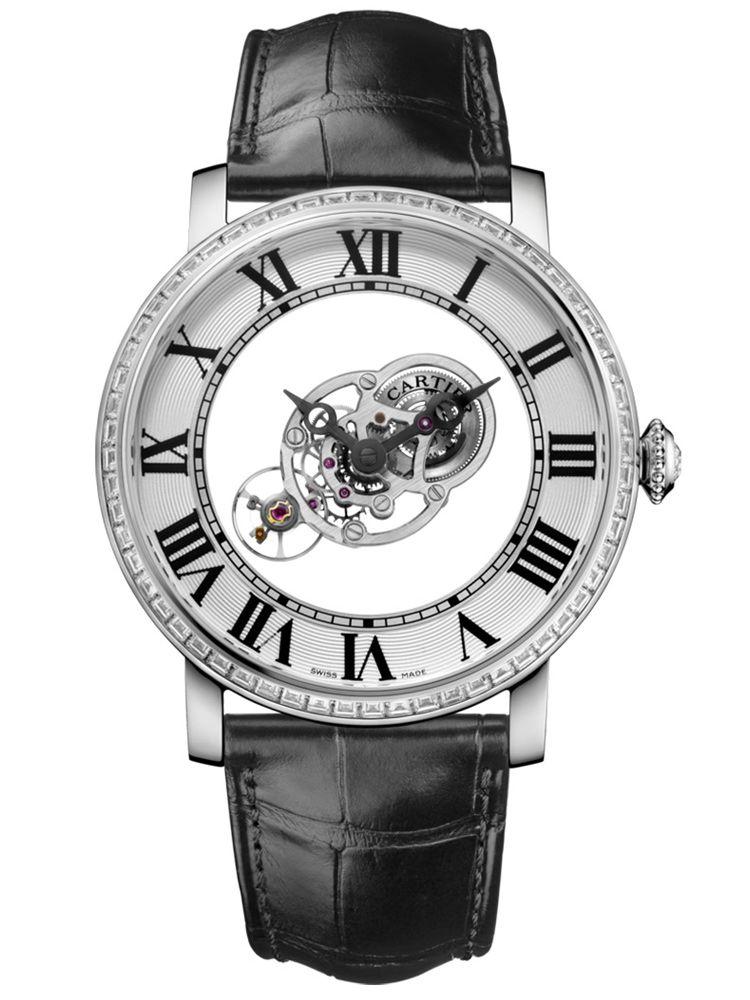 卡地亚Rotonde de Cartier系列手动上链天体运转式神秘陀飞轮腕表HPI01071
