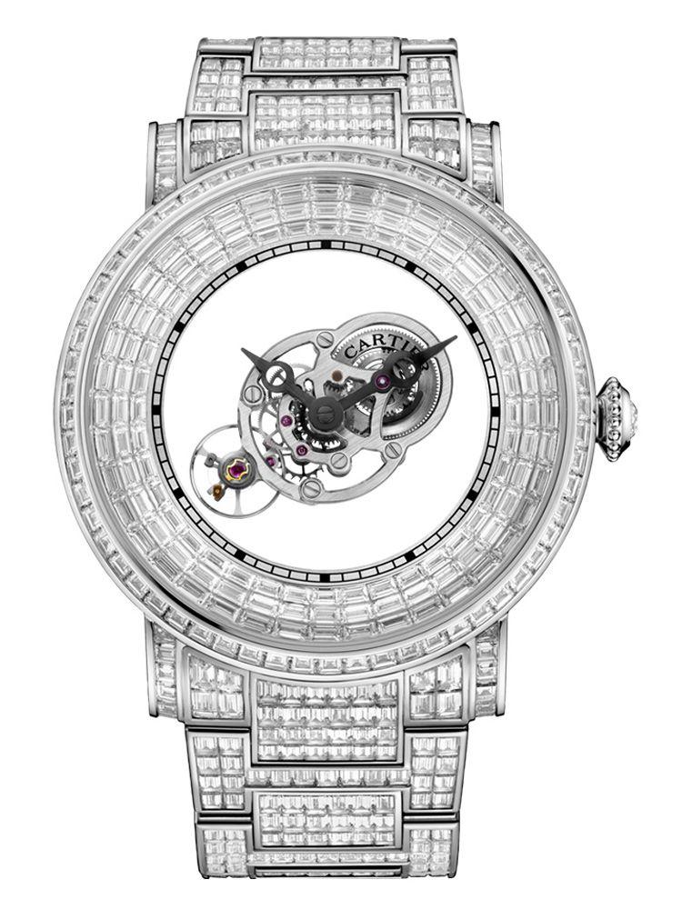 卡地亚Rotonde de Cartier系列手动上链天体运转式神秘陀飞轮腕表HPI01072