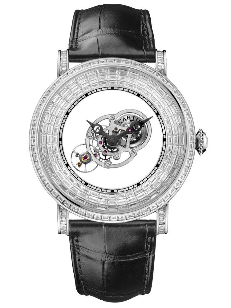 卡地亚Rotonde de Cartier系列手动上链天体运转式神秘陀飞轮腕表HPI01073