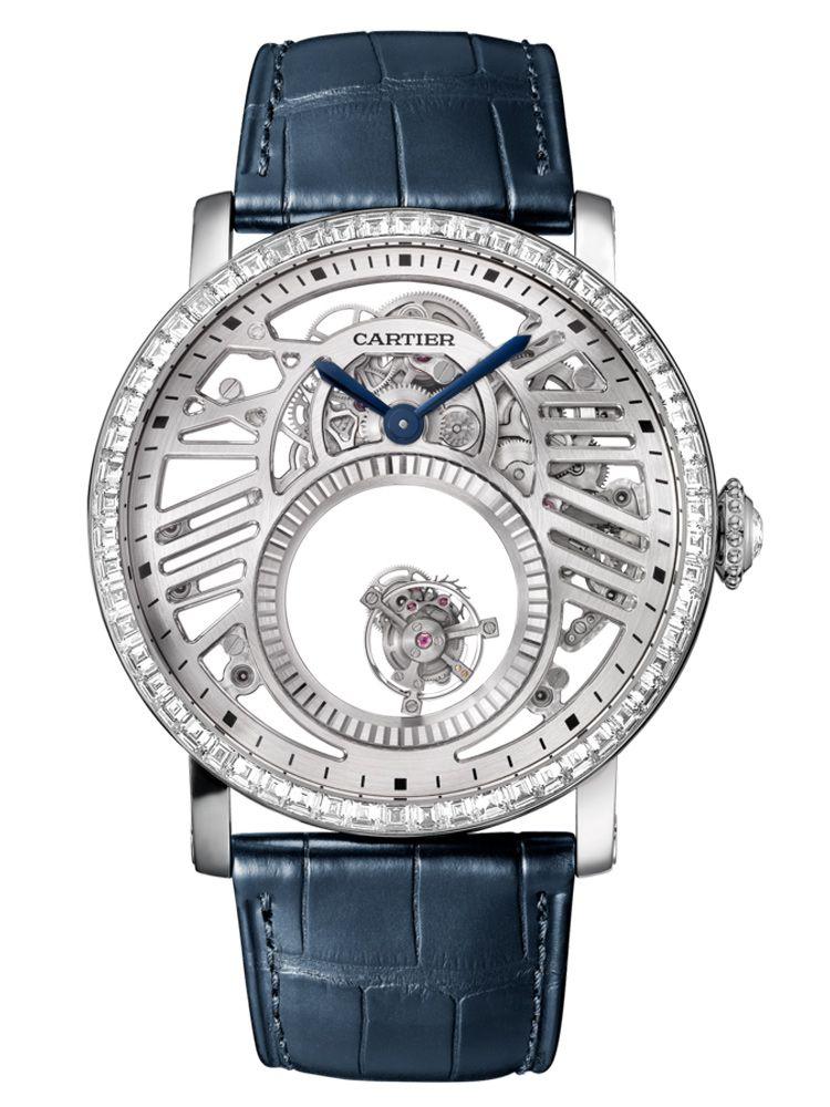 卡地亚Rotonde de Cartier系列手动上链双重神秘陀飞轮腕表HPI01199