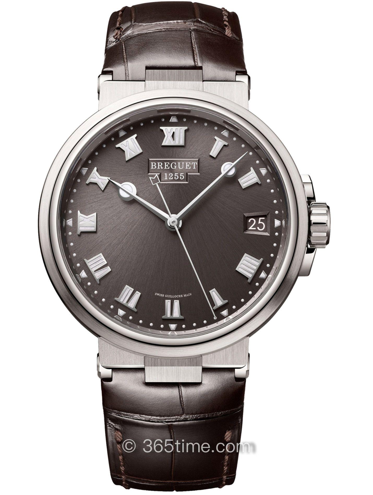 宝玑Marine航海系列5517TI/G2/9ZU钛金属自动上链手表