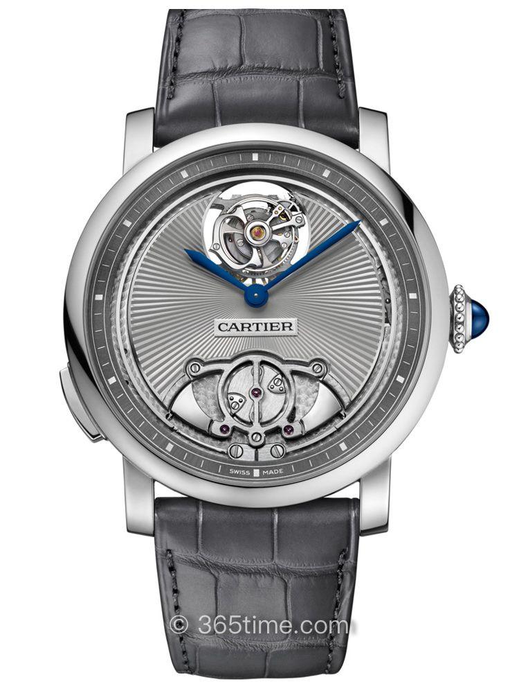 卡地亚Rotonde de Cartier系列手动上链浮动式陀飞轮三问腕表WHRO0016