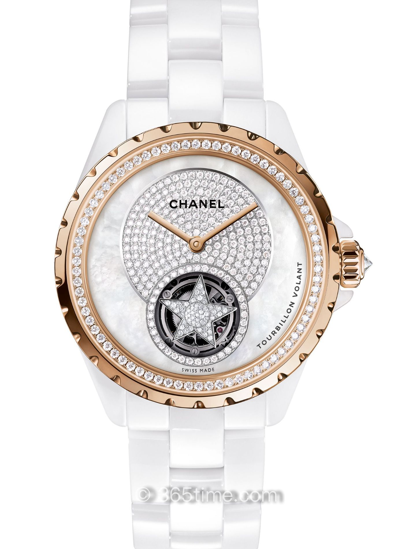 Chanel香奈儿J12 浮动式陀飞轮腕表H4563