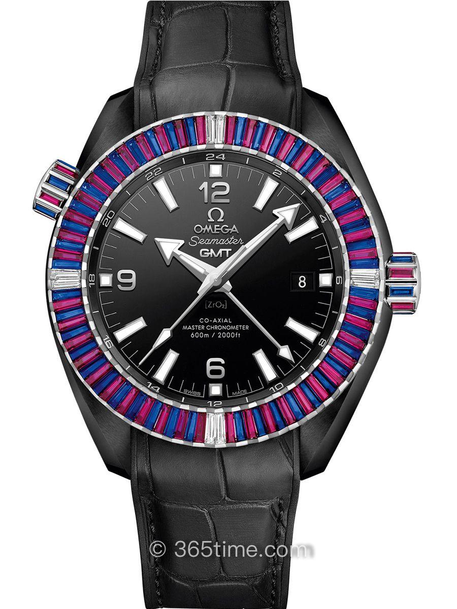 欧米茄海马系列600米至臻天文台GMT腕表215.98.46.22.01.003
