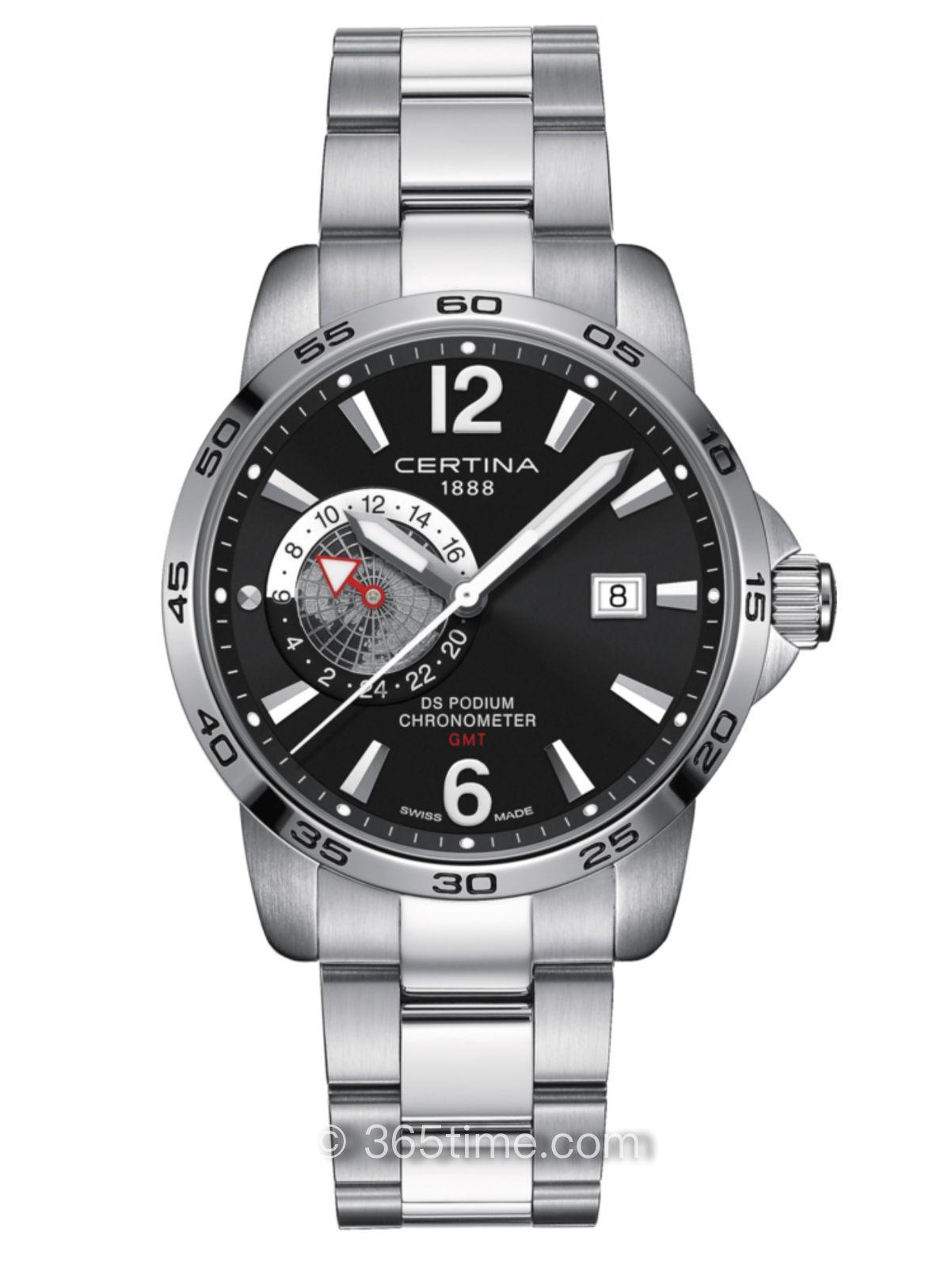 雪铁纳冠军系列GMT两地时腕表C034.455.11.057.00