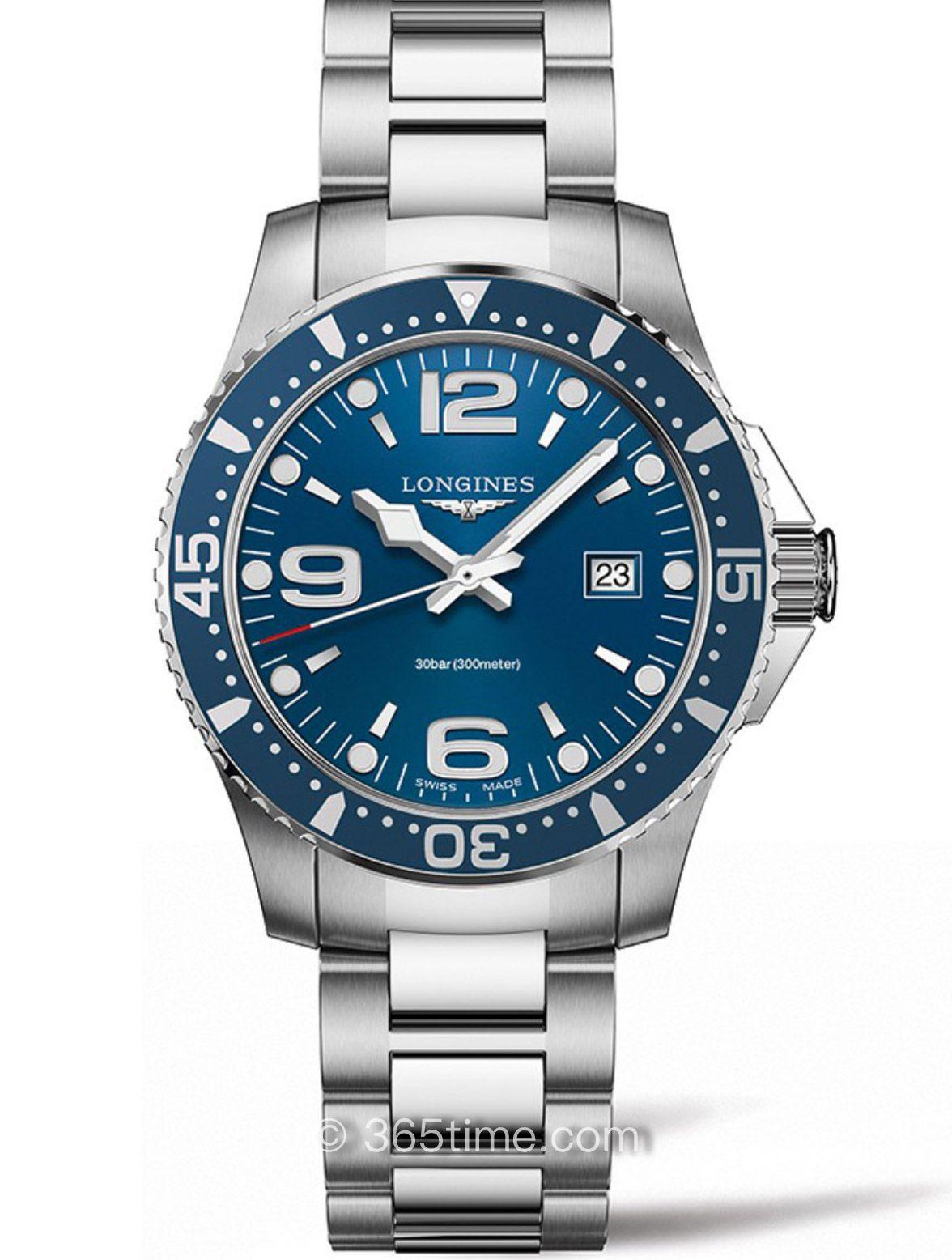 浪琴康卡斯系列石英潜水表L3.840.4.96.6