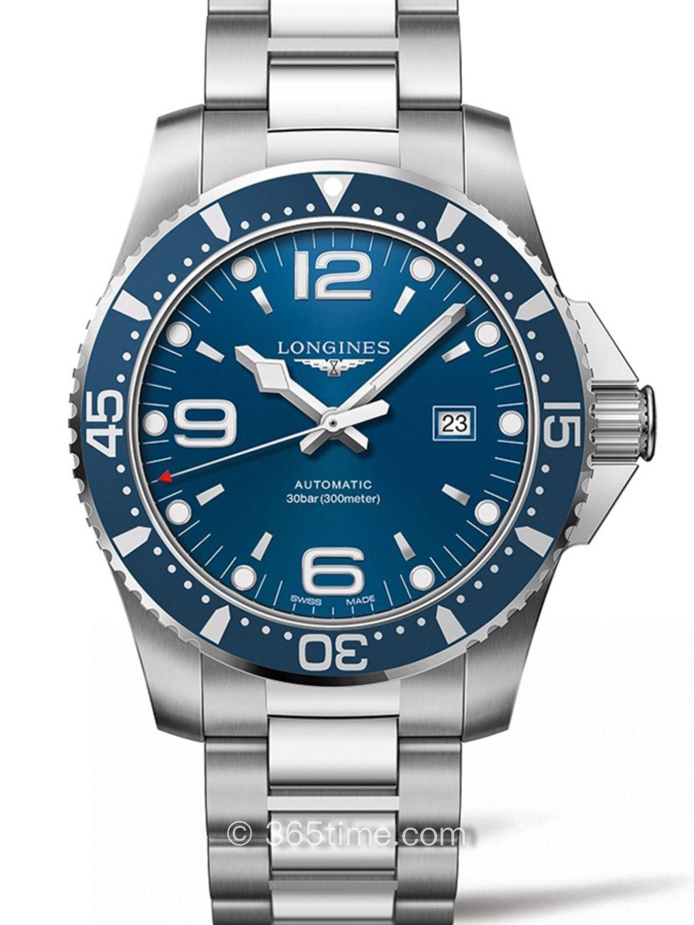 浪琴康卡斯系列自动机械潜水表L3.841.4.96.6