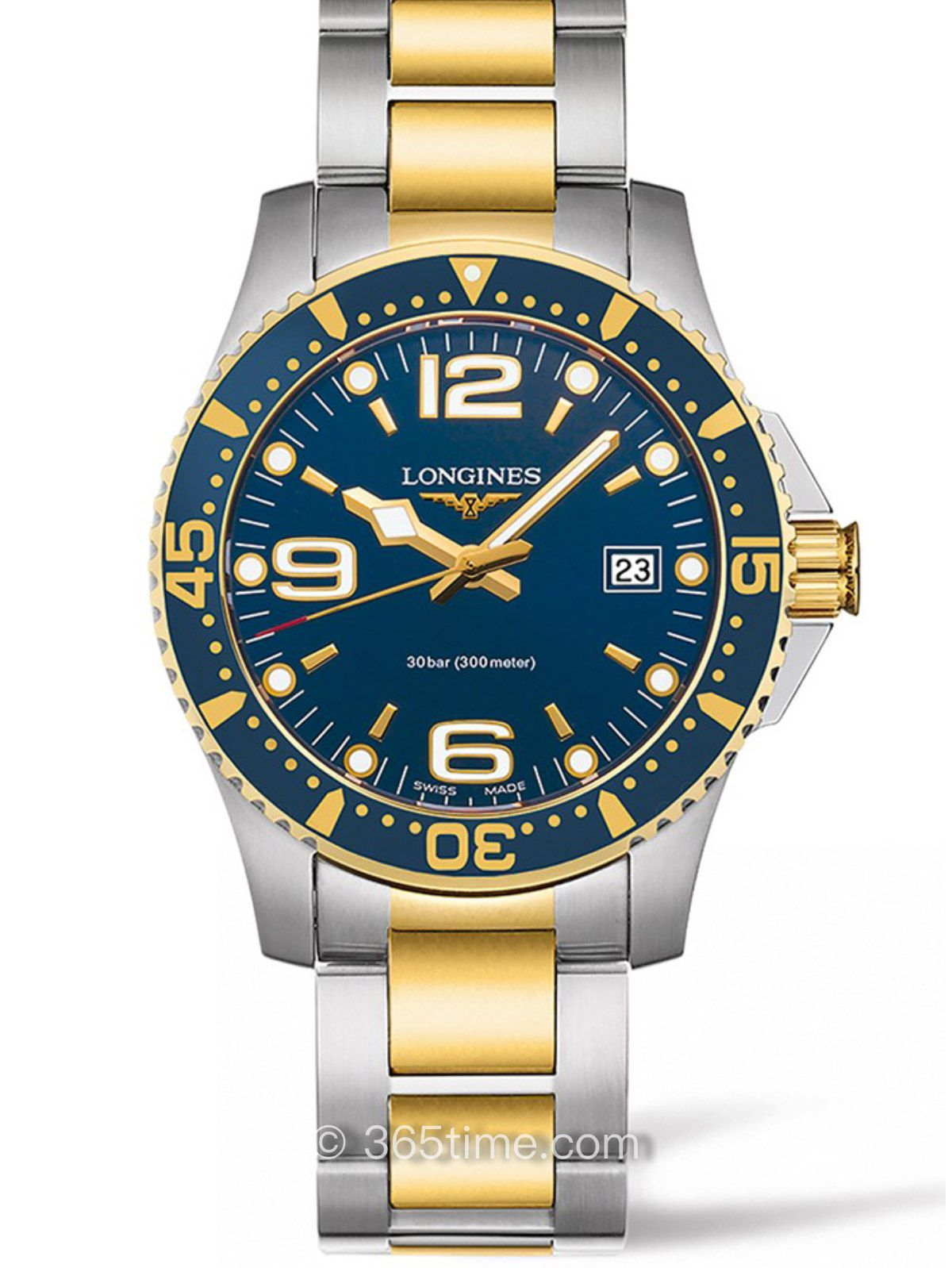 浪琴康卡斯系列石英潜水表L3.740.3.96.7