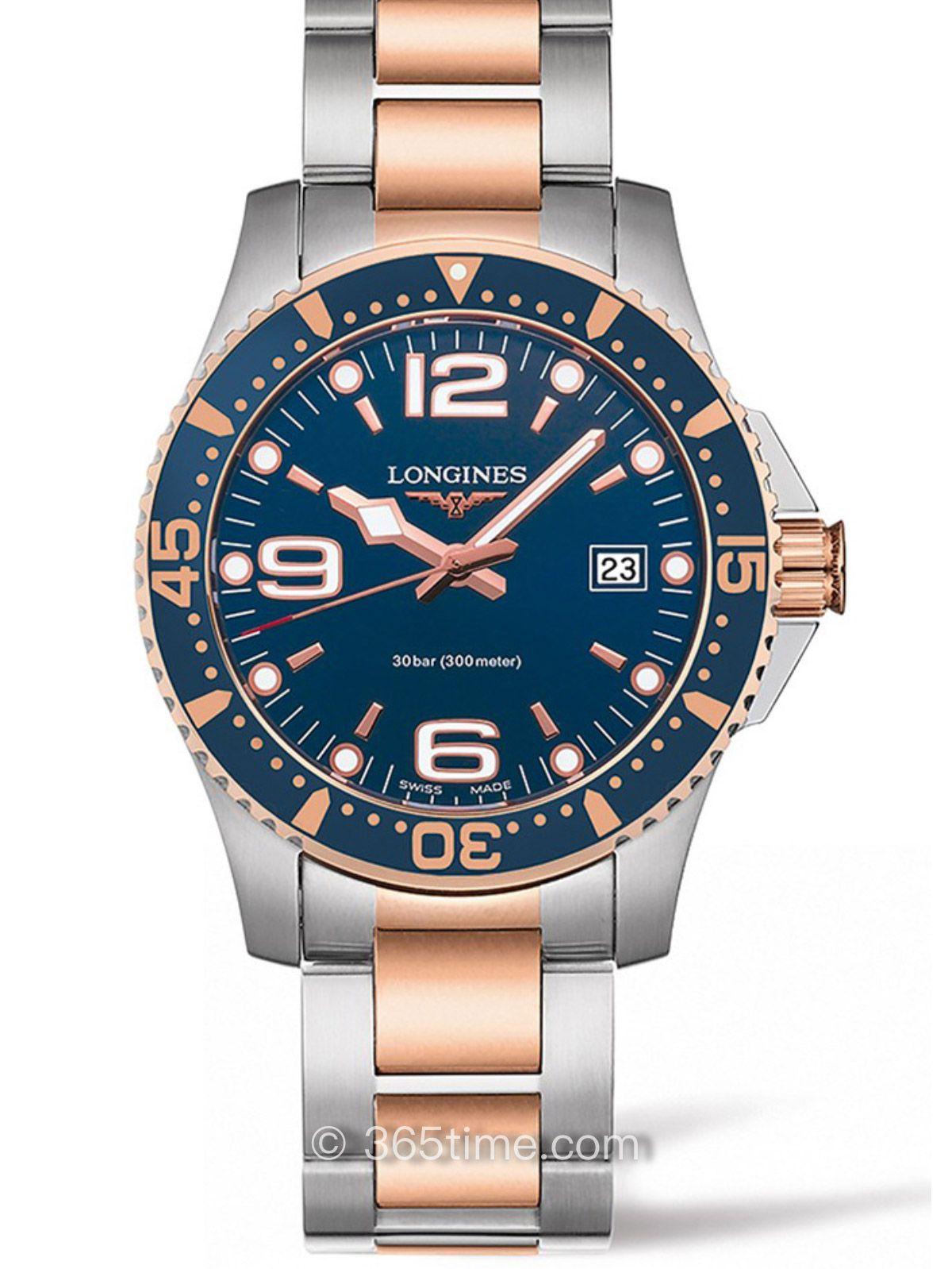 浪琴康卡斯系列石英潜水表 L3.740.3.98.7