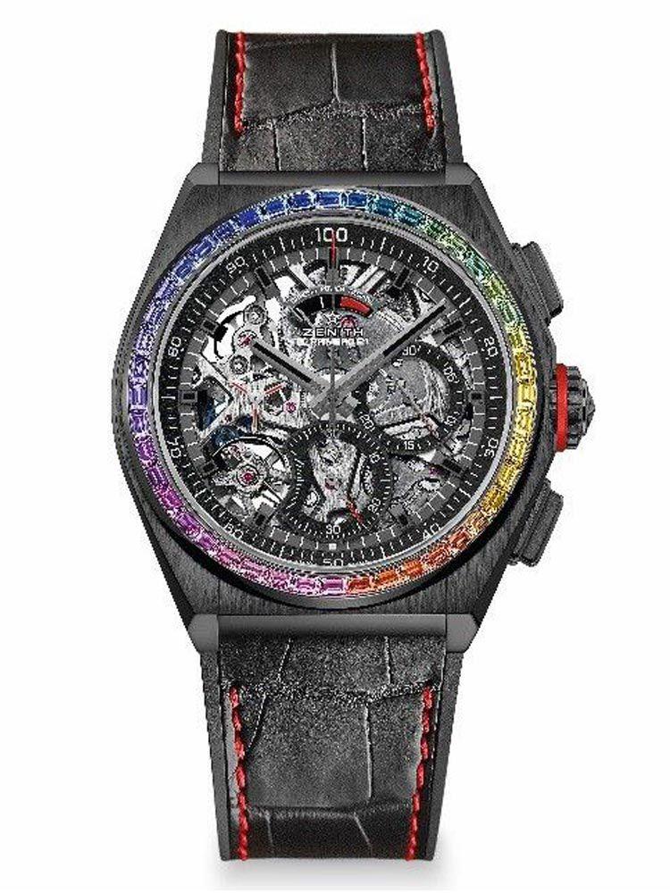 真力时DEFY系列EL PRIMERO 21 RAINBOW 限量版腕表黑色33.9002.9004/96.R580