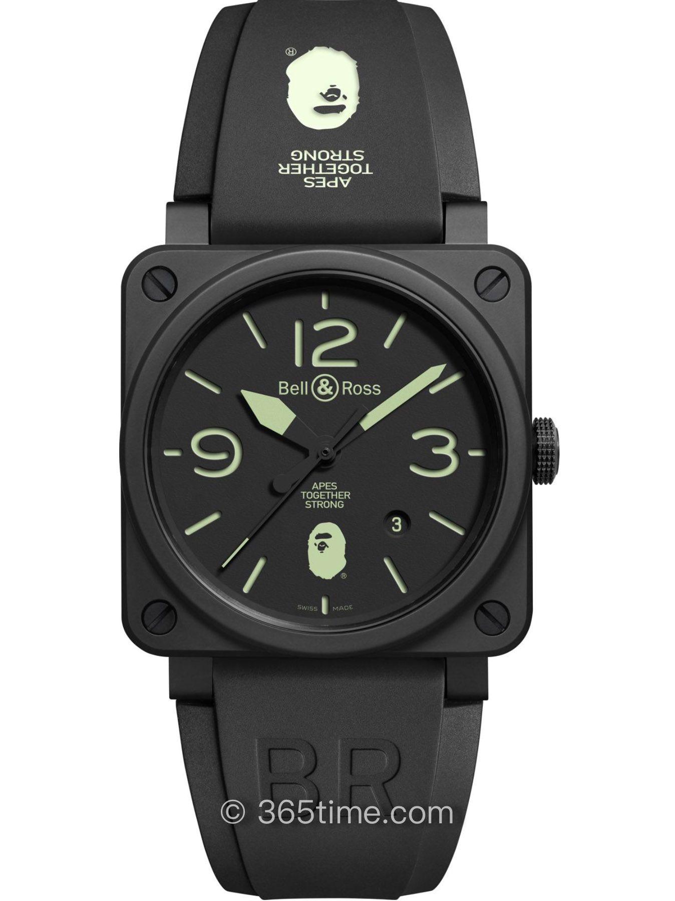 Bell&Ross柏莱士BR03-92 25TH  Anniversary限量系列腕表BR0392-BAPE-25-CE