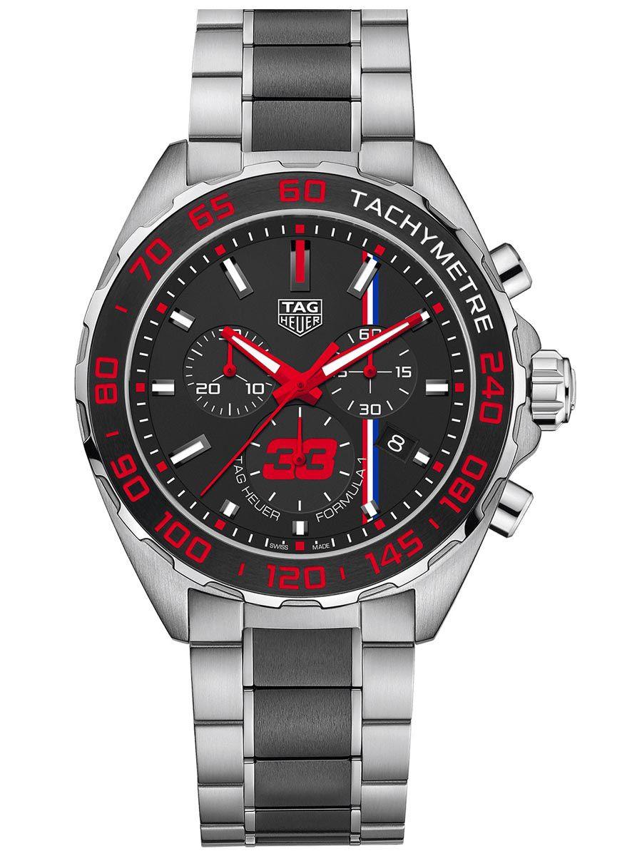 泰格豪雅 F1系列MAX VERSTAPPEN特别版限量石英计时码表CAZ101U.BA0843