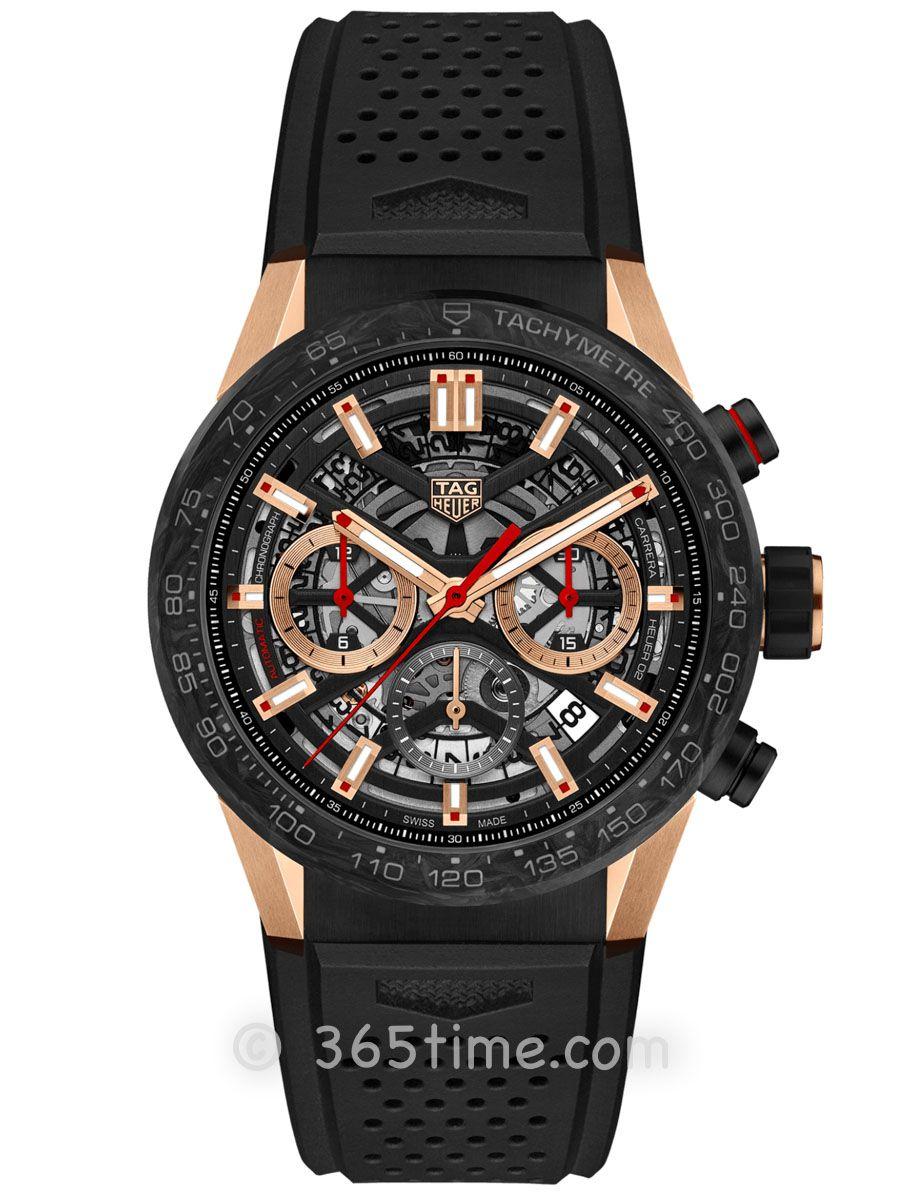 泰格豪雅卡莱拉系列Heuer 02碳纤维计时腕表CBG2052.FT6143
