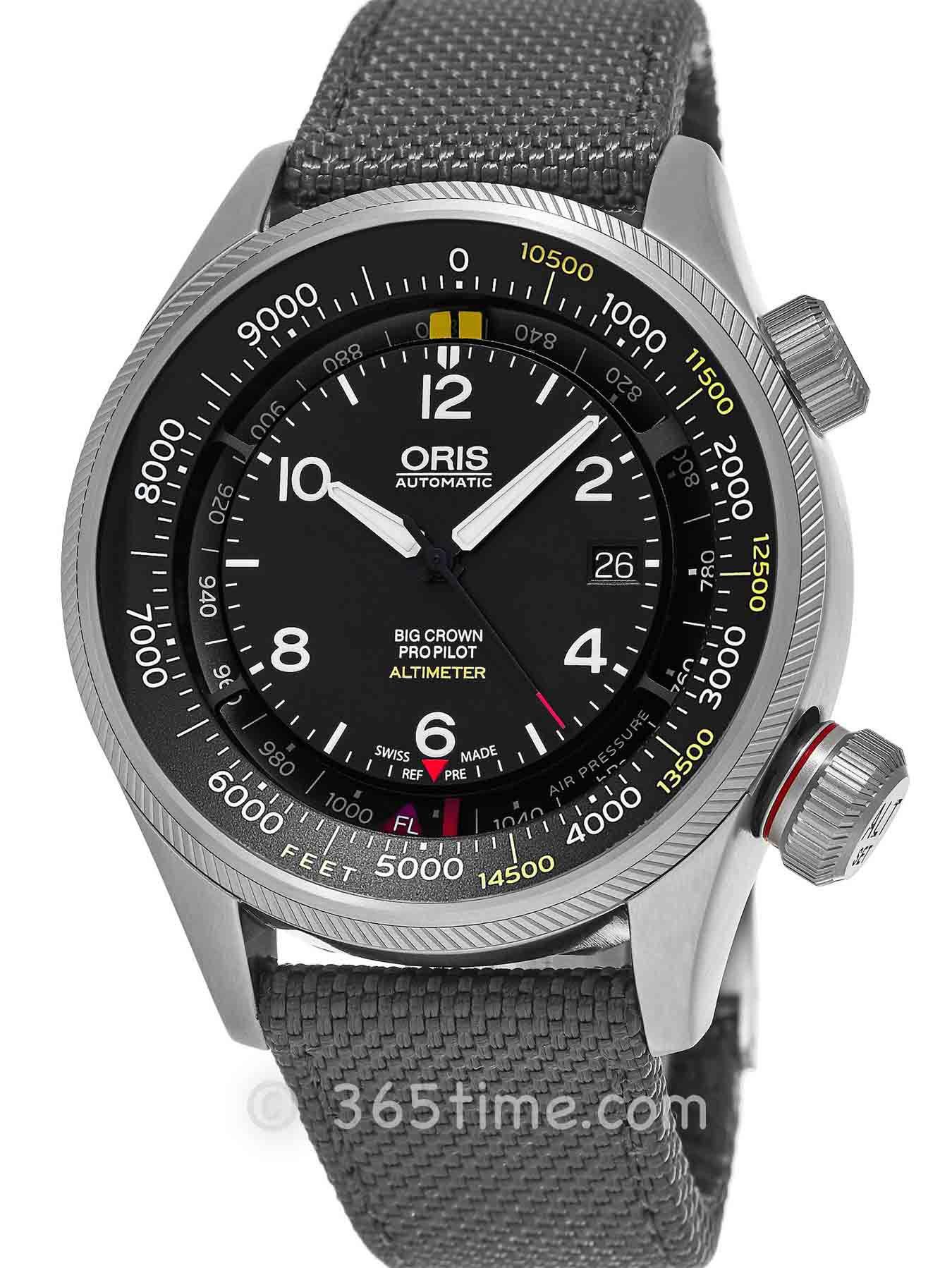 Oris豪利时航空系列大表冠飞行员海拔测量表01 733 7705 4164-Set 5 23 17FC