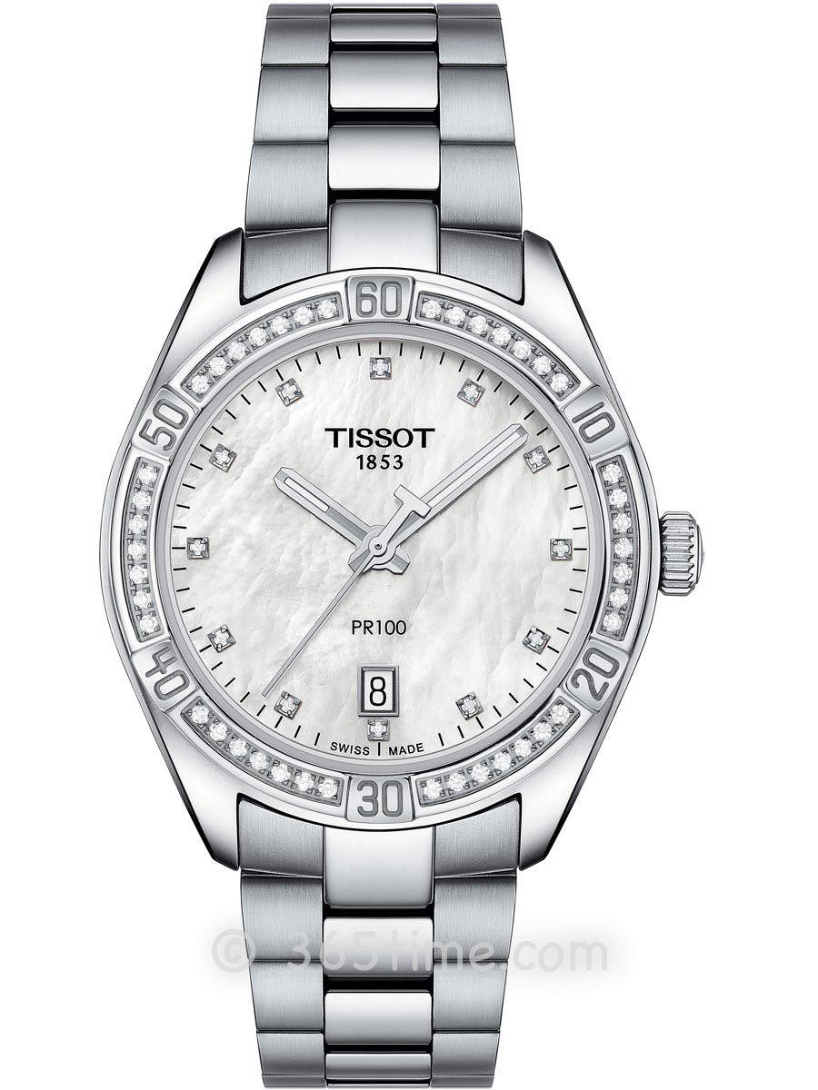天梭PR100系列女士石英腕表T101.910.61.116.00