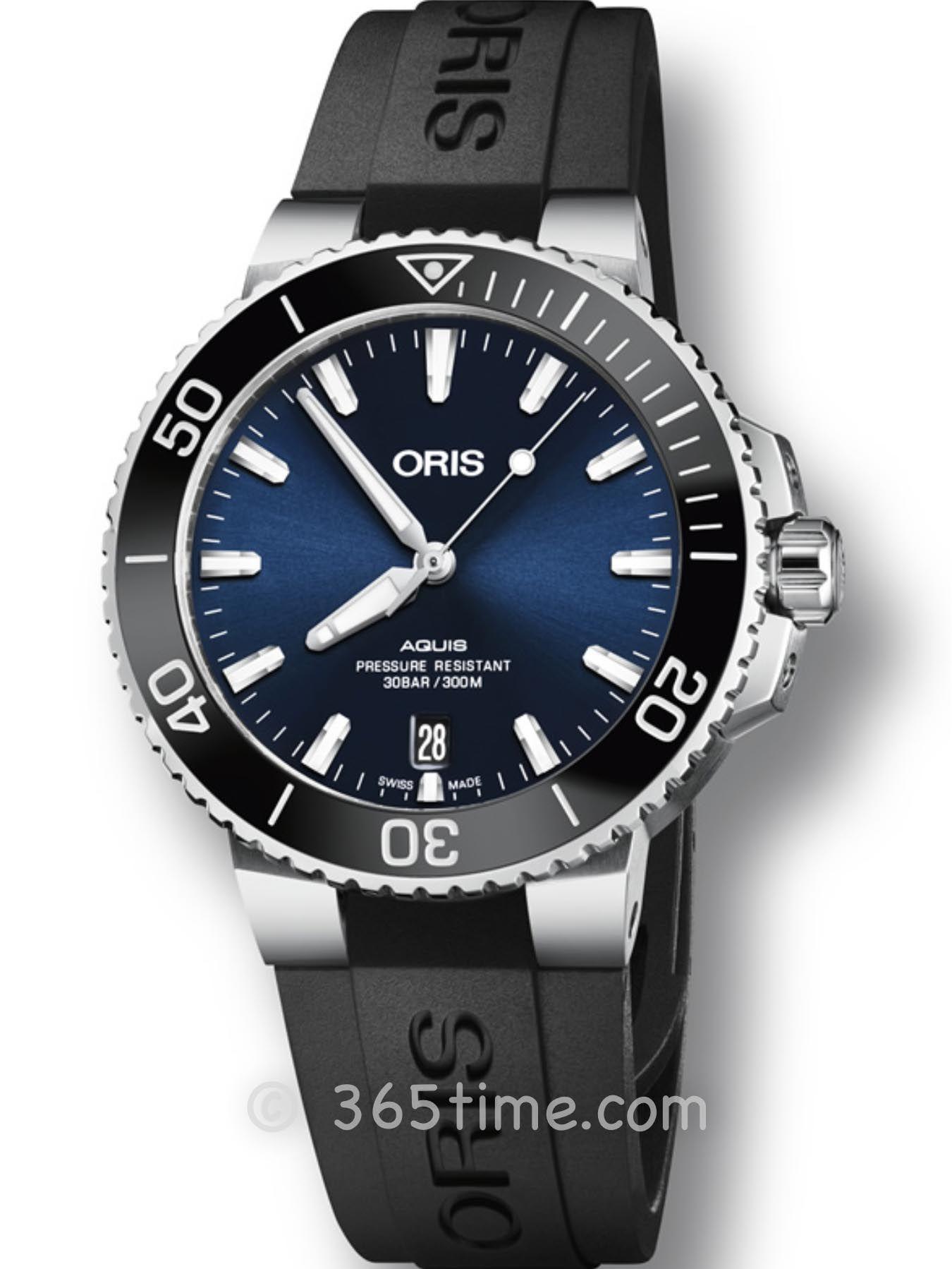 Oris豪利时潜水系列Aquis日历腕表01 733 7732 4135-07 4 21 64FC