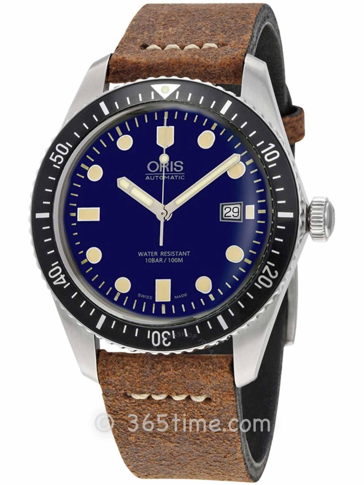 Oris豪利时潜水系列65年复刻版潜水腕表01 733 7720 4055-07 5 21 45