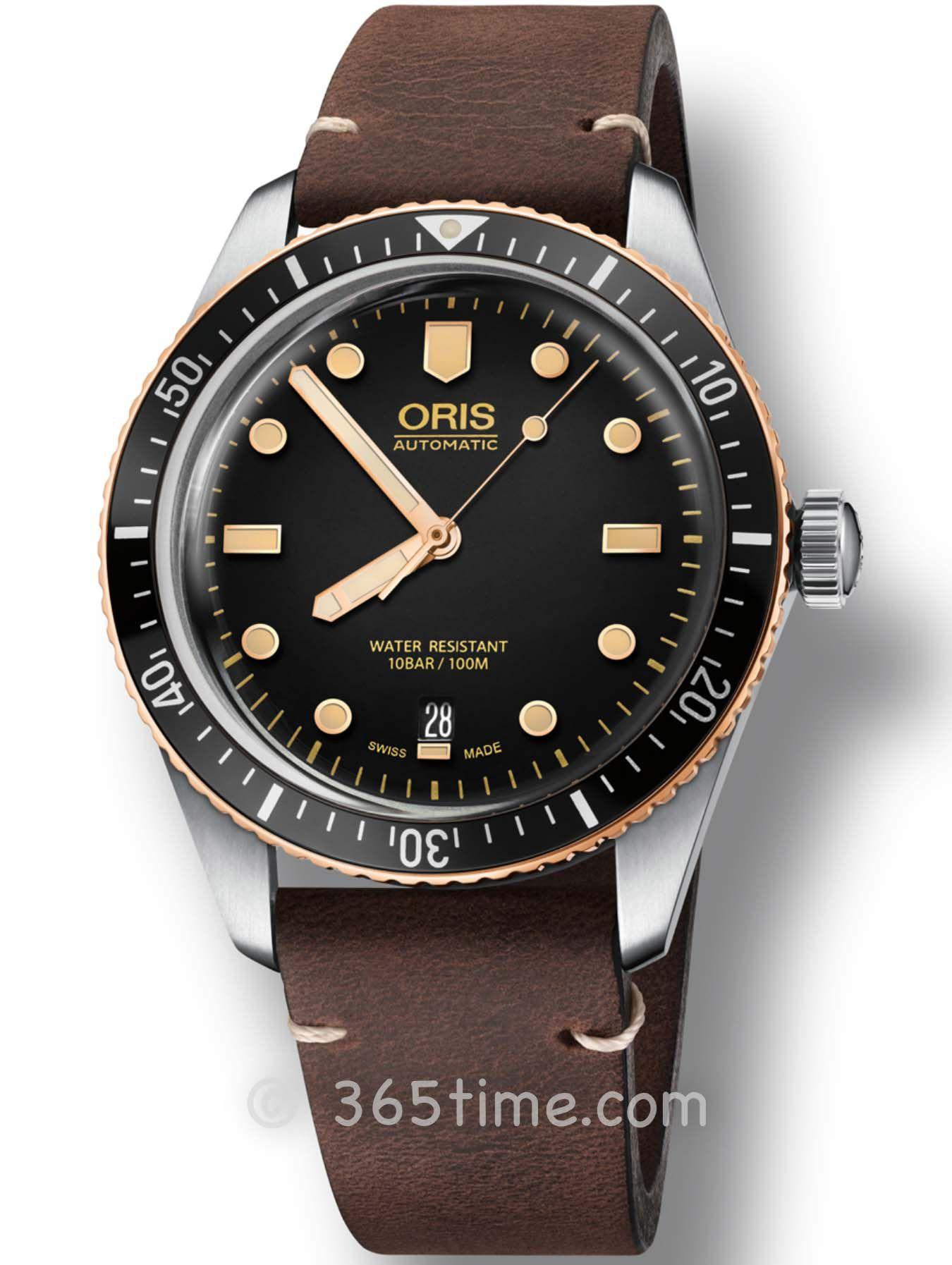 Oris豪利时潜水系列65年复刻版潜水腕表01 733 7707 4354-07 5 20 55