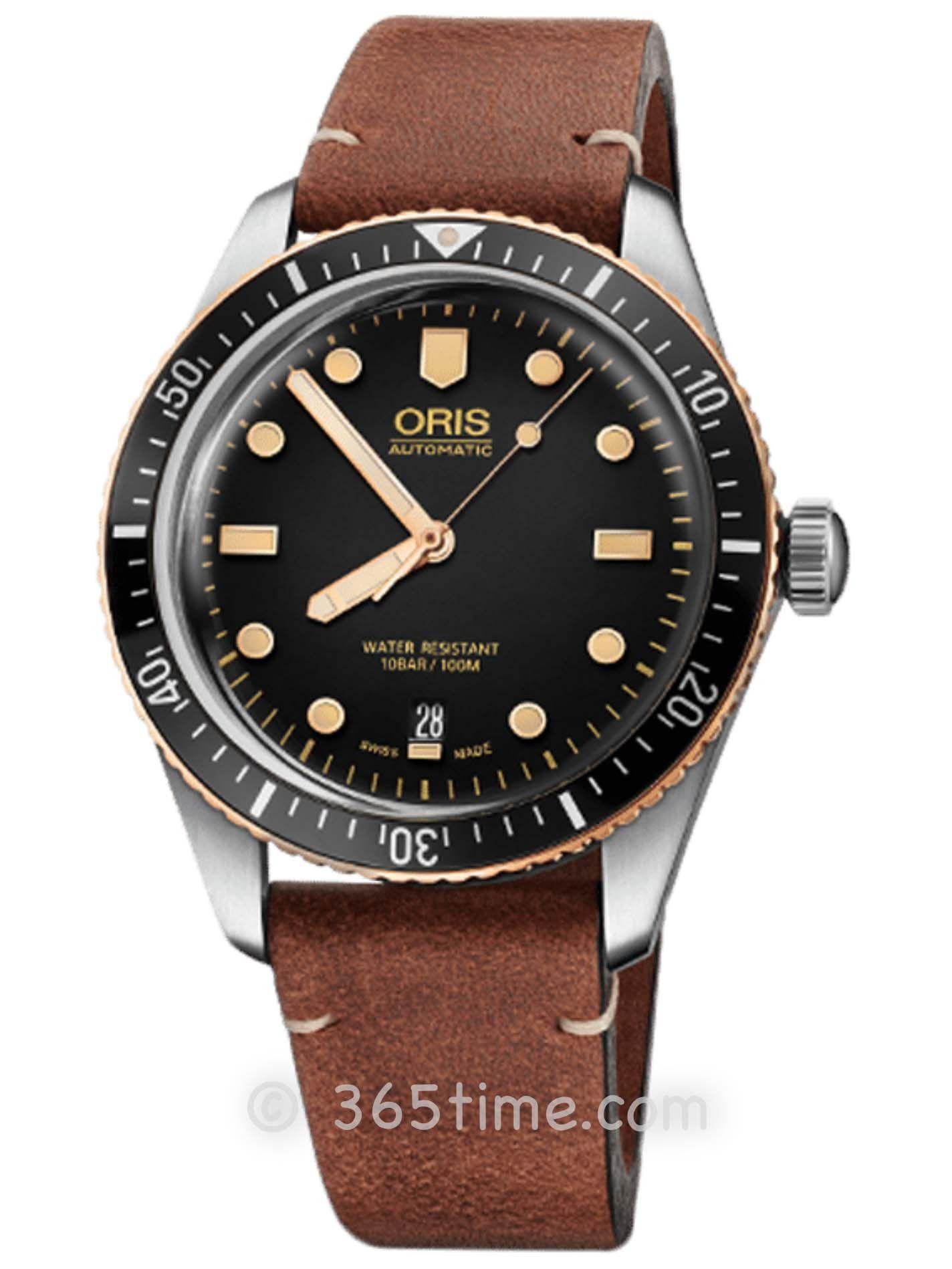 Oris豪利时潜水系列65年复刻版潜水腕表01 733 7707 4354-07 5 20 45